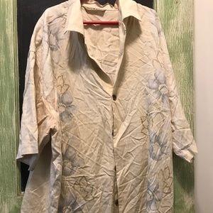 Tommy Bahama Small Hawaiian Silk Shirt
